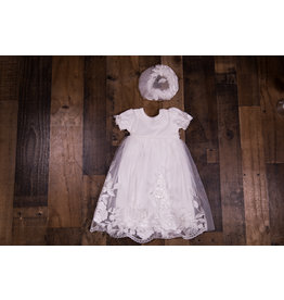 db1c87e99109 Bebe Gabrielle Ivory Embroidered Mesh Dress