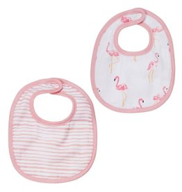 Mud Pie Muslin Flamingo Bib Set
