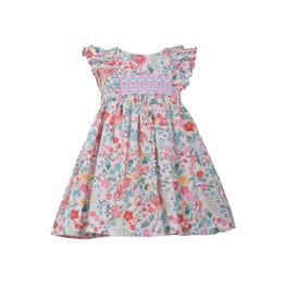 Bonnie Jean Flamingo Floral Dress