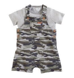 Mud Pie Camo Short Overall And Shirt
