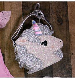 Doe A Dear Glitter Unicorn Purse