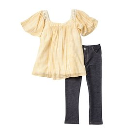 Jessica Simpson Prarie Sand Striped 2pc Set