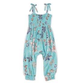 Jessica Simpson Aqua Haze Floral Jumpsuit