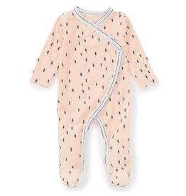 Jessica Simpson Coral Cloud Dot Footie