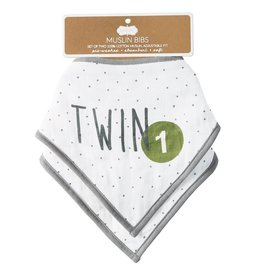 Mud Pie Muslin Twin Bandana Bibs