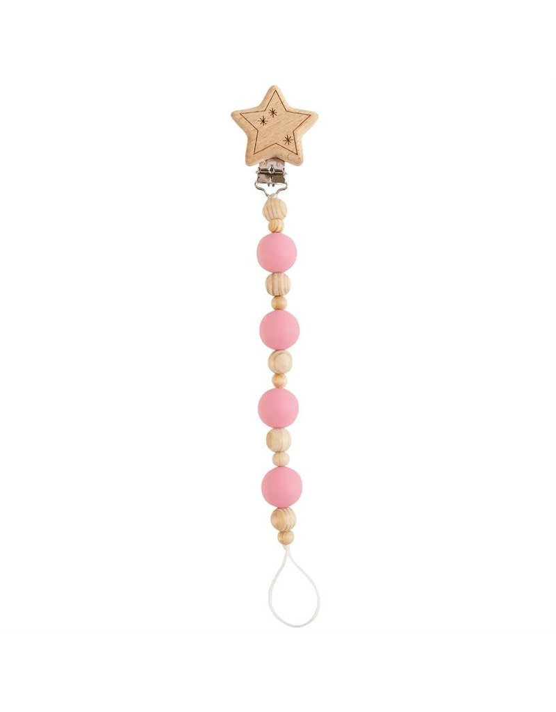 Mud Pie Girl Star Wooden Pacy Clip