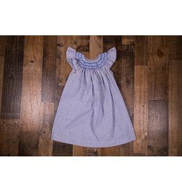Mom & Me Blue/White Seersucker Smocked Dress