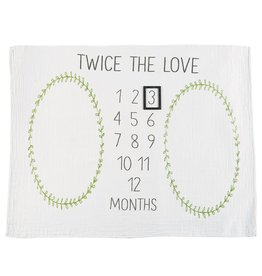 Mud Pie Twins Milestone Blanket
