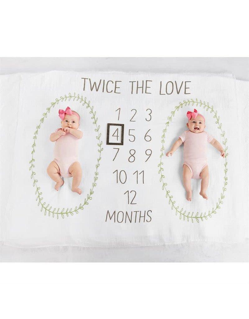 Mud Pie Twins Milestone Blanket