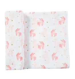 Mud Pie Muslin Unicorn Swaddle Blanket