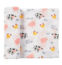 Mud Pie Muslin Farmhouse Swaddle
