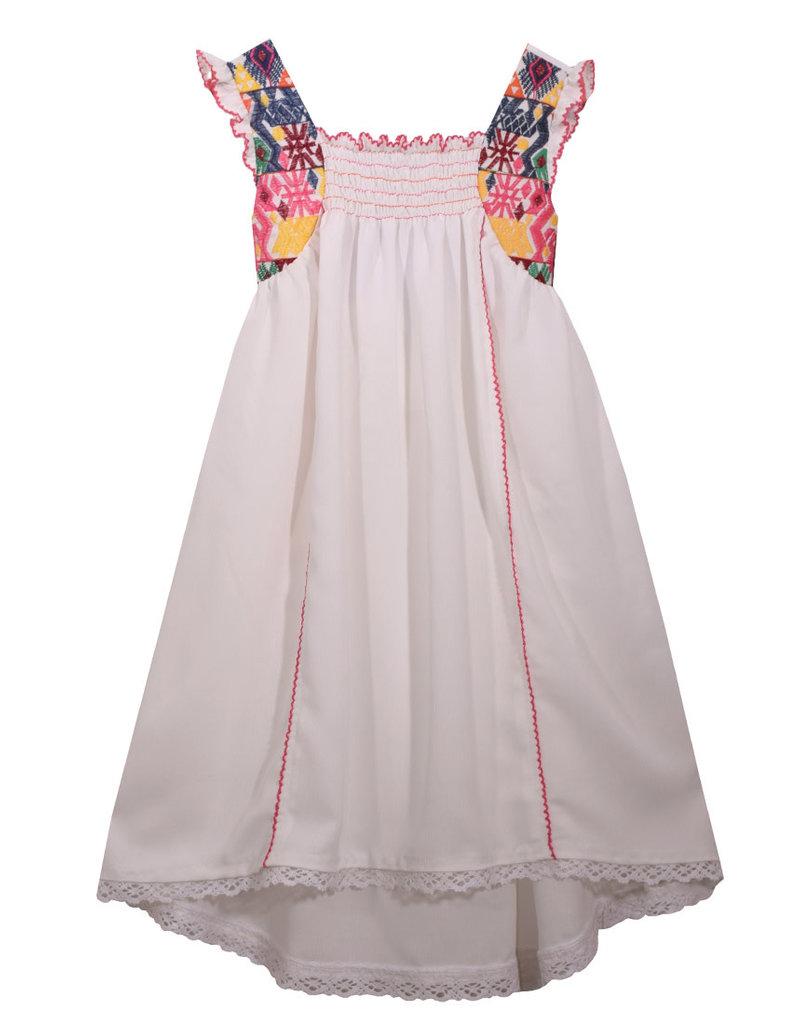 Bonnie Jean Smocked High Low Dress