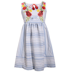 Bonnie Jean Striped Embroidered Dress