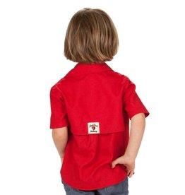 Bull Red Red Fishing Shirt