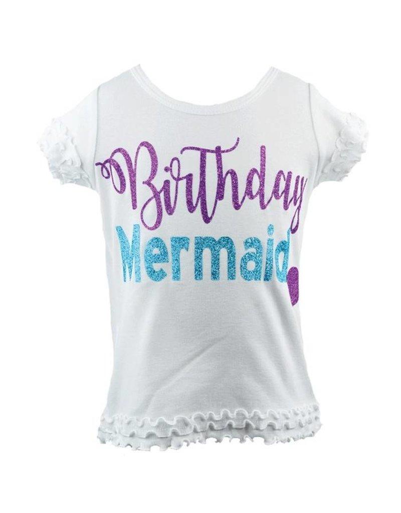 Reflectionz Birthday Mermaid Sparkle Shirt