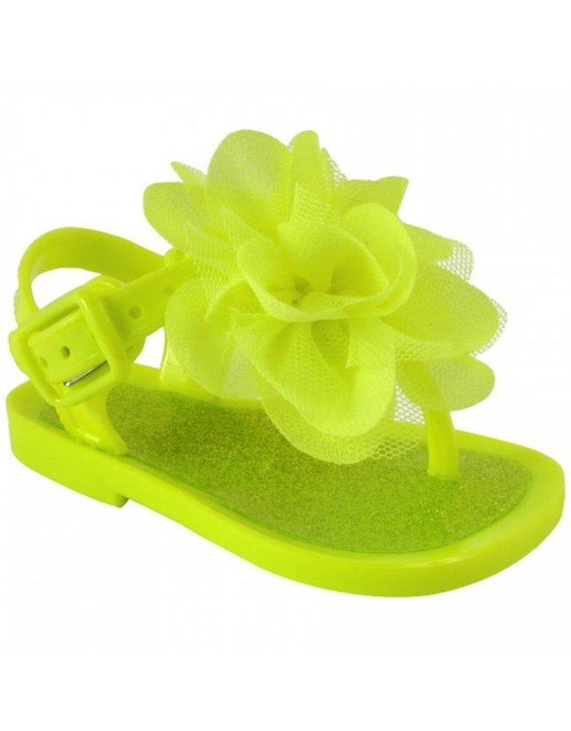 12461df5e36c Neon Yellow Walking Jelly Sandals - Peek-a-Bootique