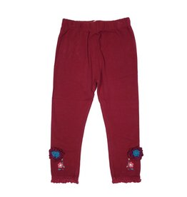 Rocking Baby Lucy Wine Lace Hem Legging