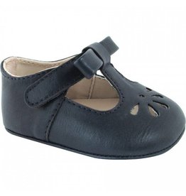 Baby Ganz Navy Perforated Velcro Shoe