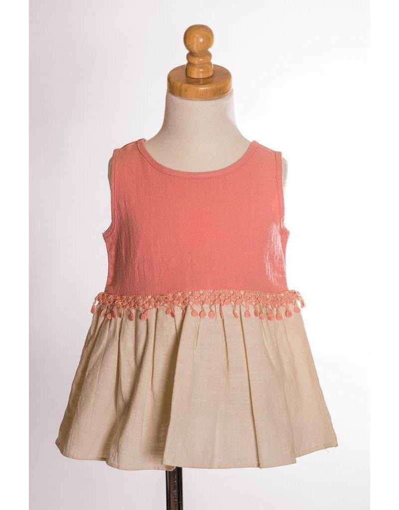 ccf42d5df6a79d MLKids Coral and Cream Shirt MLKids Coral and Cream Shirt