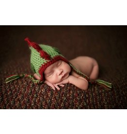 Daisy Baby Green & Red Dino Knit Hat