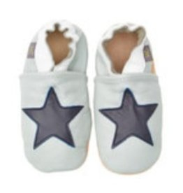 Helene's Closet Leather Navy Star Moccasins