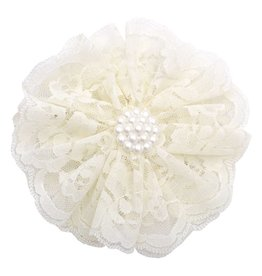 Reflectionz Cream Lace & Pearl Flower Clippie