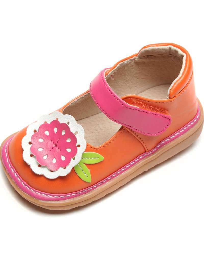 e0c1bbe06a2 Mooshu Trainers Big Flower Mary Jane Girls Toddler Squeaky Shoes ...