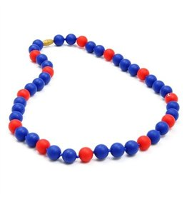 Navy and Red Chewbeads Necklace