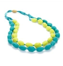 Green and Lime Green Chewbeads Necklace (Double String)