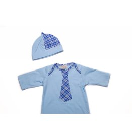 CachCach Blue And Plaid Baby Cap