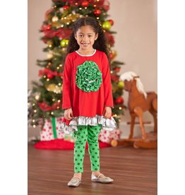 Mallory May Green Polka Dot Leggings