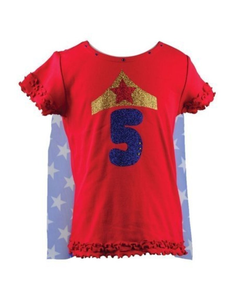 Reflectionz Red Wonder Woman Birthday Shirt With Cape