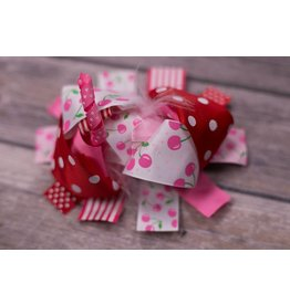 Polka Dot and Cherry 5 in Boutique Bow