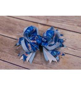 Blue Frozen 3.5 in Boutique Bow