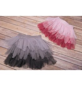 Nina And Nelli Apparel Ombre Mesh Skirt