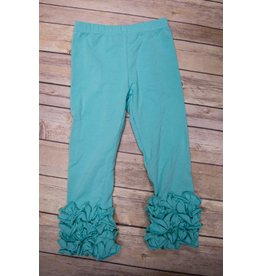 Adora-Bay Teal Ruffle Legging
