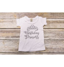 Jujubee Bowtique Silver Birthday Pricncess Shirt