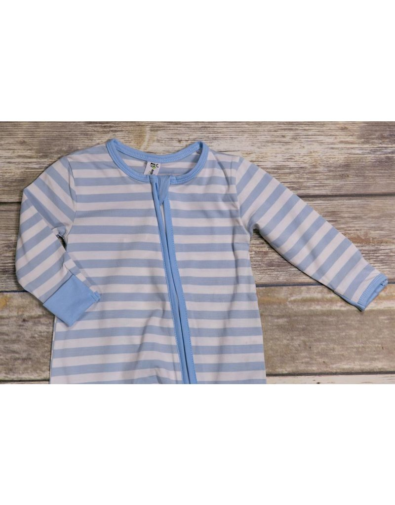 e93f35b58a54 Earth BAby Outfitters 2 Way Zippy Blue Stripe - Peek-a-Bootique