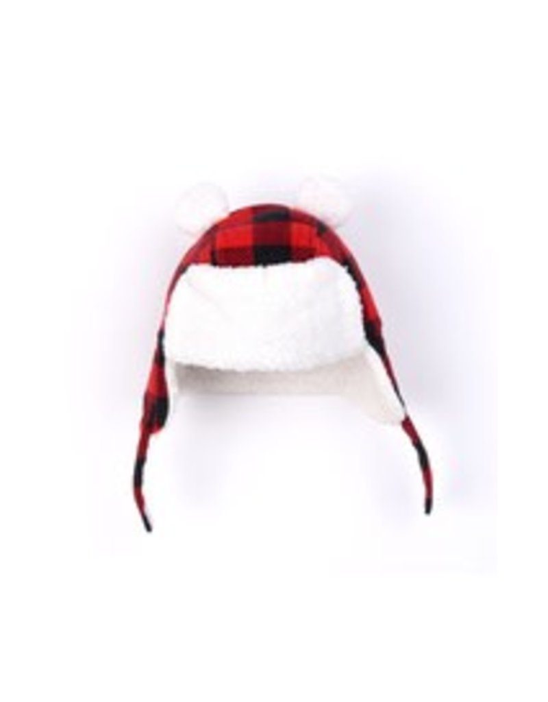 Kapital K Buffalo Plaid Winter Hat with Bear Ears - Peek-a-Bootique 393e77c7064