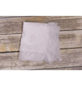 Bebemonde Sheer White Rose Blanket