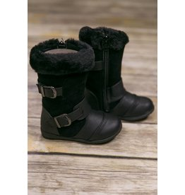 JoSmo Black Tall Boot with Fur