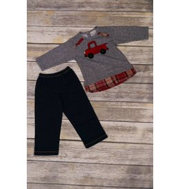 CachCach Little Red Truck Sweater and Pant Set