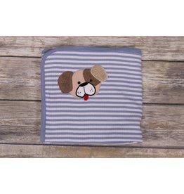 CachCach Blue and White Stripe Puppy Blanket