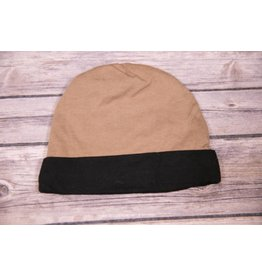 koko-nut Milk Brown with Black Trim Infant Cap