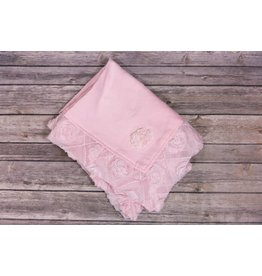 Bebemonde Diamond Flowers Light Pink Specialty Blanket