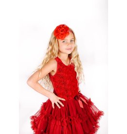 Popatu Red Rosette Petti Dress