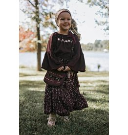 Bela & Nuni Burgundy Tie Around Boho Skirt