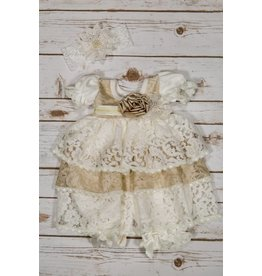 Katie Rose Audrey Baby Lace Bloomer Dress