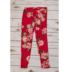 Pomelo Hot Pink Floral Leggings