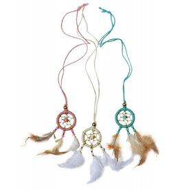 Baileys Blossoms Dream Catcher Necklace - Pink